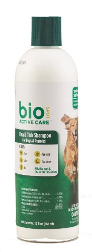 BioSpot Active Care Flea & Tick Shampoo for Dogs and...