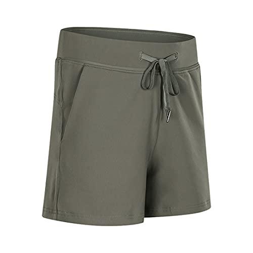 Pantalones cortos para mujer cortos deportivos, correr de cintura alta, Cómodos correr con bolsillos, Parte inferior de pijama suave con cintura elástica Ropa deportiva para yoga Fitness Uso diario