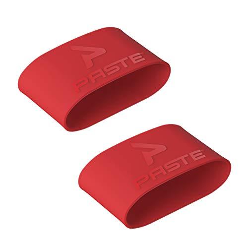 PASTE ® Schienbeinschonerhalter Fußball Herren Aus Silikon (Farbe: Rot) Halterung von Schienbeinschonern im Stutzen (Schienbeinschoner Halter Ohne Verschluss)