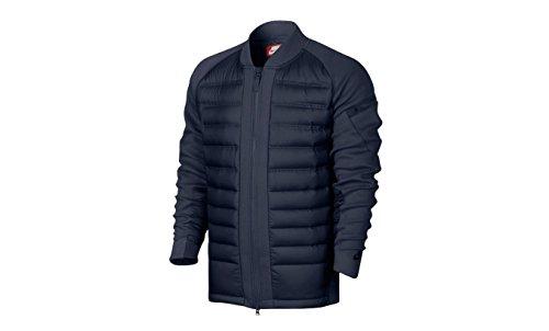 Nike Sportswear Tech Fleece AeroLoft Men's Down Bomber-SZ LG Obsidian 806837 451