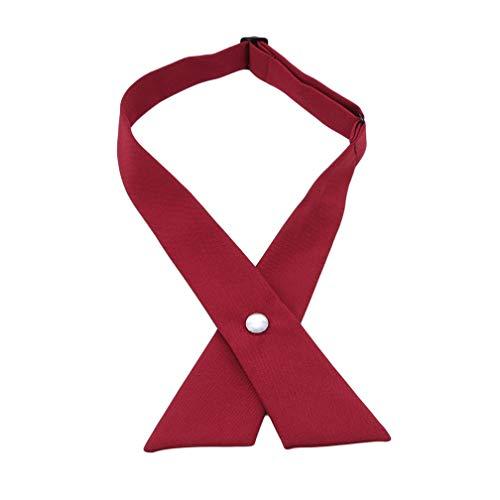 LJSLYJ Ties Solid Hair Neck Accessoires Garçons Filles Cravate Réglable Cravate Uniforme Cross Tie, rouge foncé