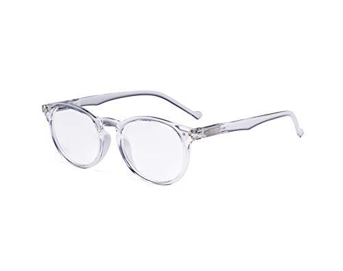 Eyekepper Oval Rund Federscharniere Lesebrille transparenten Rahmen +1.5