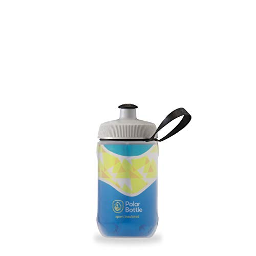 Polar Bottle Kids Insulated Water Bottle - BPA-Free, Sport & Bike Squeeze Bottle with Handle (Daybreak - Pacific Blue, 12 oz)
