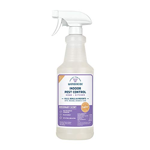 Wondercide Natural Products - Indoor Pest Control Spray for Home and Kitchen - Fly, Ant, Spider, Roach, Flea, Bug Killer and Insect Repellent - Eco-Friendly, Pet and Family Safe — 32 oz Rosemary