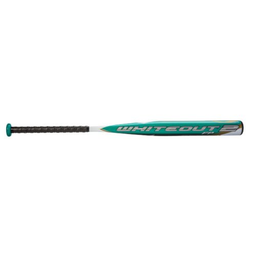 Mizuno Whiteout 2 Balanced Fast Pitch Bat (-12.5), White/Teal, 34-Inch