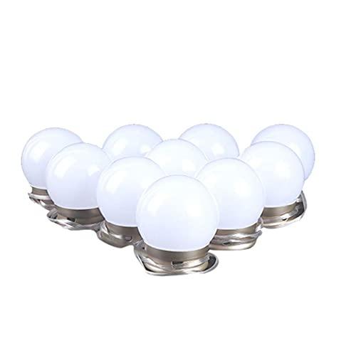 HOTPINK1 Luz de tocador para bricolaje espejo lámpara de maquillaje para tocador, tira de luces LED con sensor táctil regulador de intensidad 10 bombillas LED regulables equivalente a 100 W