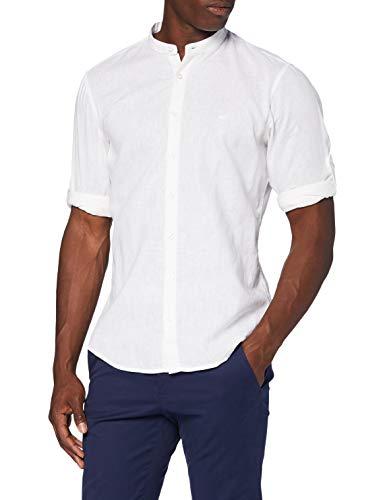 camel active Herren Freizeithemd Langarm Hemd, White, XL