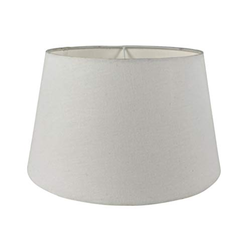 Wogati Premium Lampenschirm /30 cm(U) x 23 cm(O) x 18 cm(H) /Weiß /Stoff /Oval rund /E14 /E27 /inkl. Adapter