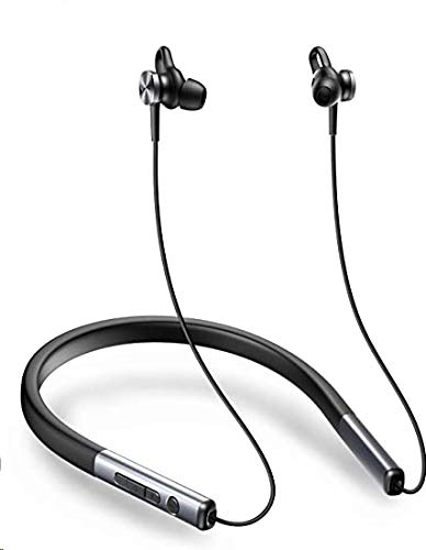 VOGEK Active Noise Cancelling Headphones, Bluetooth 5.0 Wireless Earbuds Neckband Sports Earphone Built-in Microphone Deep Bass HiFi Stereo with Magnetic,IPX6 Waterproof 13 Hours Play time