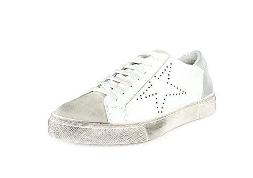 STEVEN by Steve Madden Women's REZZA Sneaker, White, 5.5 M US