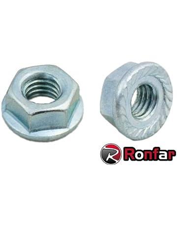 3 mm 4 mm 5 mm 6 mm 8 mm 10 mm 12 mm HEXAGON Seghettato Flangia Dadi Inox A2 DIN 6923