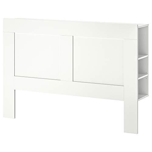 Cabecero BRIMNES con compartimento de almacenamiento 146x28x111 cm blanco