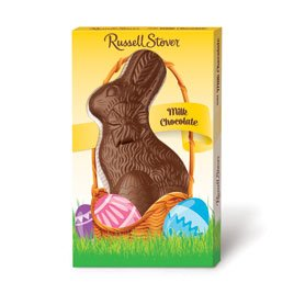 Russell Stover Solid Milk Chocolate Flatback Rabbit, 11 oz.