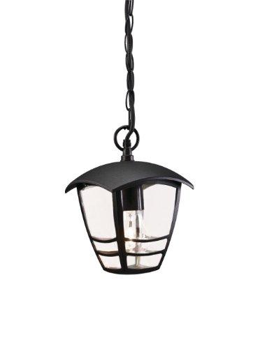 Massive 153863010 outdoor-verlichting voor buiten, zwart E27, buitenverlichting (outdoor ophanging, zwart, aluminium, glas, IP44, tuin, transparant)