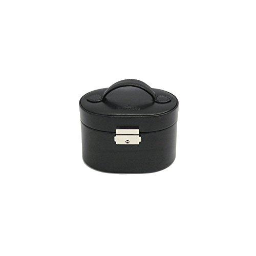 Windrose Merino kleiner Schmuckkoffer mit Einsatz 15 cm schwarz