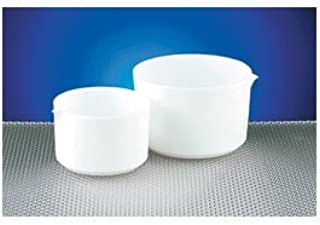 Dynalon 355304-0100 PTFE 100mL Tall Form Evaporating Dish, with Smooth Internal Finish