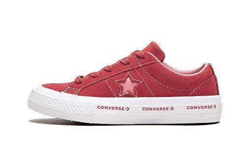 Converse Jungen Unisex-Kinder Lifestyle One Star Ox Suede Fitnessschuhe, Pink (Paradise Pink/Geranium Pink 637), 28/29 EU