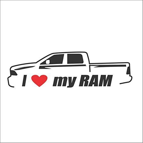 Ik hou van mijn Ram Bumper Window Vinyl Stickers Dodge 2500 1500 HD Hemi SRT