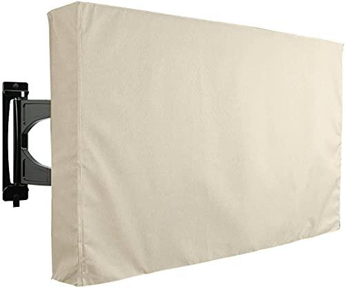 Keephic Cubierta protectora para Tv al aire libre 210D resistente a la intemperie y al polvo Funda de TV para exterior adecuada para exteriores Led Lcd Oled pantalla plana Tv (46-48')
