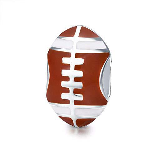 925 Sterling Silber USA Fußball Charm Sport Charm Geburtstag Jahrestag Charm Charm für Pandora Charm Armband