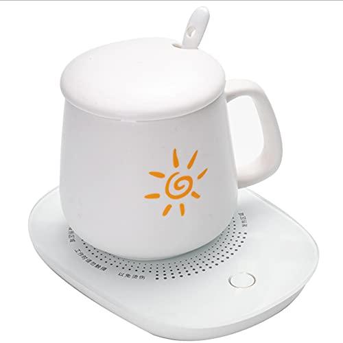 Calentador inteligente de taza de café, calentador de bebidas eléctrico, calentador de taza de café para plato de escritorio para Usb Heat taza de 55 grados , para uso doméstico inteligente