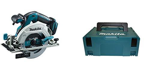 Makita Akku-Handkreissäge (ohne Akku/Ladegerät, 680 W, 18 V) DHS680Z + Makita Makpac Größe 2, 821550-0