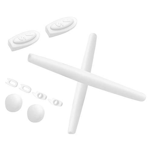 Ohrensocken und Nasenpads für Oakley Romeo 1 Sonnenbrille, Weiá (Weiße Gummi-Sets.), Einheitsgröße