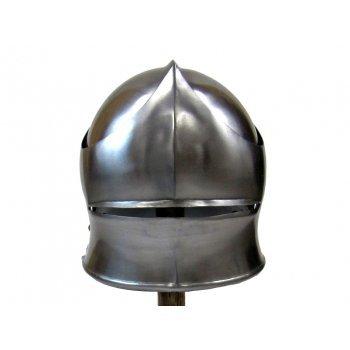 Vintage nautical Coleccionable Armor Alemán sallet acero casco con visera
