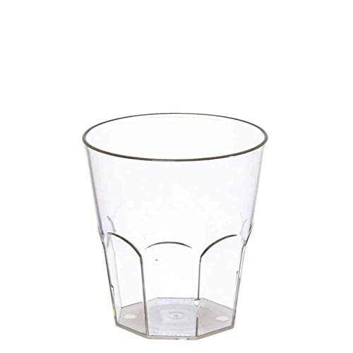 POLOPLAST Lot de 20 Verres à Cocktail en Cristal Transparent de 330 CC, Verres Kristal pour Cocktail Granite Frappe Long Drinks