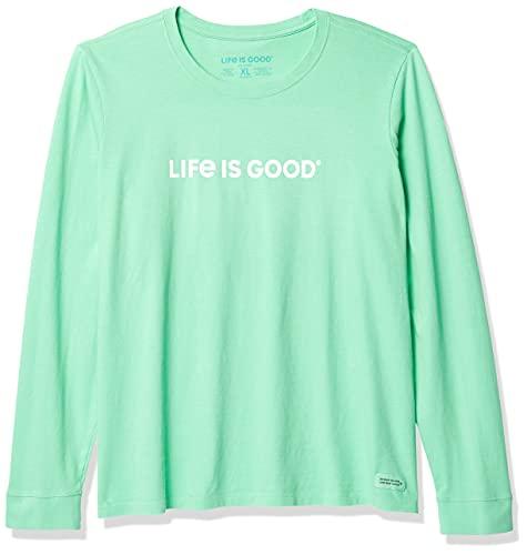 Life Is Good - Camiseta de Manga Larga para Mujer, Mujer, Camisa, 68498, Verde Menta, M