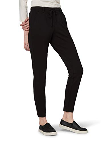 TOM TAILOR Damen Hosen & Chino Lässige Stoffhose Deep Black,36/32