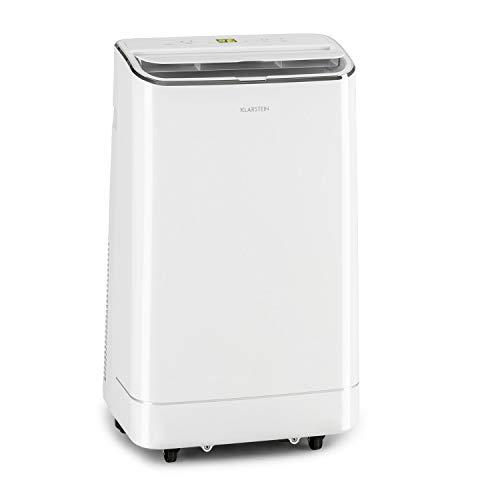 KLARSTEIN Iceblock - Climatiseur mobile 3 en 1: Climatiseur, déshumidificateur, ventilateur, 12000 BTU/3,5 kW, taille de la pièce: 35 à 59 m², débit: 400 m³/h max.- blanc neige