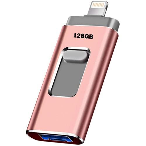 FLASHDRIVE Memoria USB para iPhone iPad y Android. 32GB. Pendrive USB 4 en 1. Expansión Memoria de Alta Velocidad 3.0. Compatible con USB Lightning Micro USB Tipo...