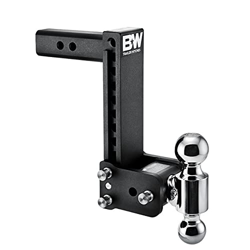 B&W Trailer Hitches Tow & Stow - Fits 2  Receiver, Dual Ball (2  x 2-5 16 ), 9  Drop, 10,000 GTW - TS10043B