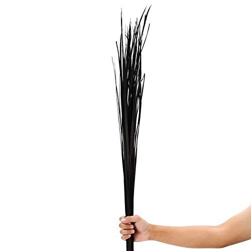 Leewadee Dekobündel für Bodenvasen Trockengesteck Dekogras Dekozweige, 120 cm, Getrocknetes Natur-Gras, schwarz