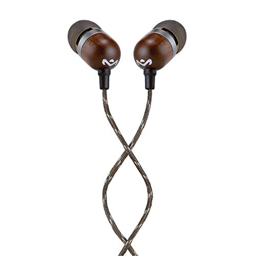 House of Marley Smile Jamaica Wired Noise Isolating Headphones with Microphone (Midnight)
