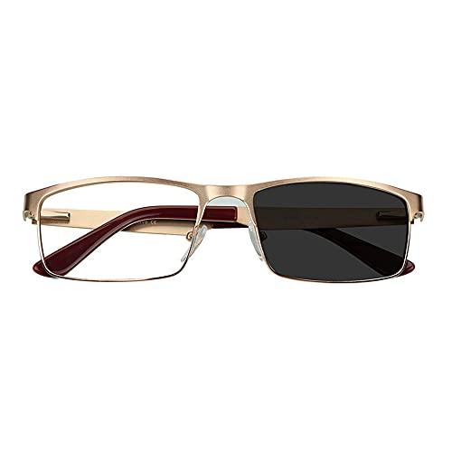 Reading Glasses Gafas de Lectura fotocromáticas, Lentes de Alta definición, cómodas de Llevar, cambian de Color automáticamente Cuando se exponen a la luz Solar en Exteriores