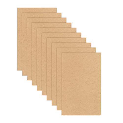 """6mm 1/4thinch MDF (Medium Density Fibreboard), 12""""x 19"""", Glowforge Ready, Unfinished   Box of 10, 20, 50 and 100, for Laser Engraving, CNC, Wood Burning, Router, Scroll Saw. by Craft Closet"""