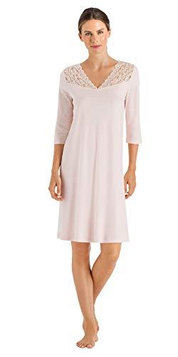 Hanro Damen Moments Nw 3/4 Arm 100 cm Nachthemd, Rosa (Crystal Pink 071334), 40 (Herstellergröße: S)