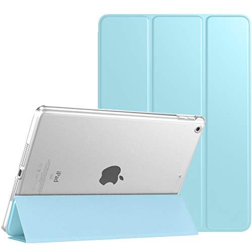 TiMOVO Hülle für Neu iPad 8. Gen 2020/7. Gen 2020 10,2 Zoll, Ultra Leicht Schutzhülle mit durchsichtiger Rückseite, Auto Schlaf/Wach Funktion, Magnetische Abdeckung - Himmelblau