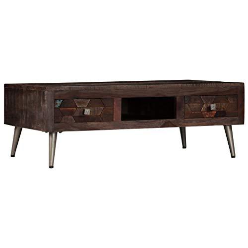 Romelaru salontafel van massief hout 100 x 60 x 35 cm meubels tafels siertafels salontafels