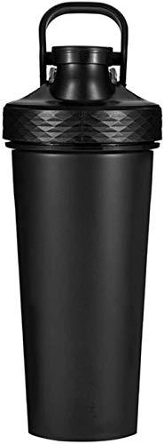 LIjiMY Botellas De Coctelera En Blanco para Mezclas De Proteínas, Botella De Proteína De Proteínas, Tazas De Coctelera para Batidos De Proteínas, 650 Ml, Rosa (Color : Black)