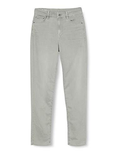 G-STAR RAW Damen 3301 High 90's Ankle Straight Jeans, Grau (Earthcolors Dk Magnesium C050-B648), W25/L32 (Herstellergröße: 25W/ 32L)