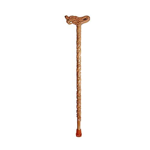 NUBAO stok, Oudere krukken, Massief hout wandelstok, Kraan handvat Betekenis