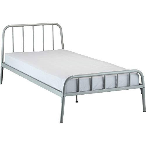 Playa 5306 - Muebletmoi para cama infantil (90 x 200 cm), color gris claro