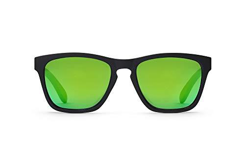 TAKE A SHOT Holz-Sonnenbrille - UV400 Schutz, sportlich, grün verspiegelt, Herren Damen, rückentspiegelt Schwarz - THE LITTLE MERMAID