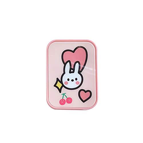 GLLP Lentes de Contacto I Beauty Contacto Caja de múltiples Pares de la Personalidad de Dos Piezas Simple Girl Linda Compacto de Almacenamiento portátil (Color : B)
