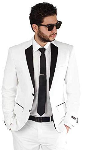 Men's White Wool Dinner Jacket