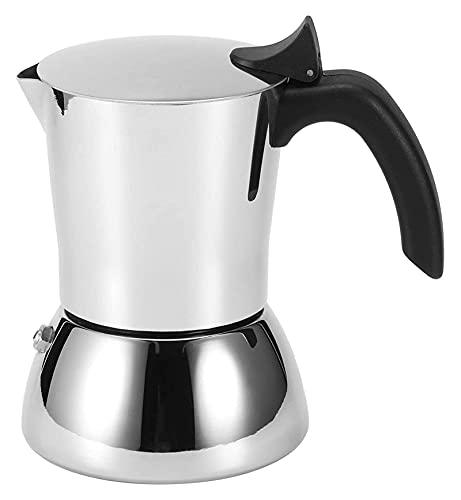 Fabricante de café de grado alimenticio Pot fácil de limpiar la olla de café de alta temperatura, para hacer café con leche (Color : Silver, Size : 15x15.5cm)
