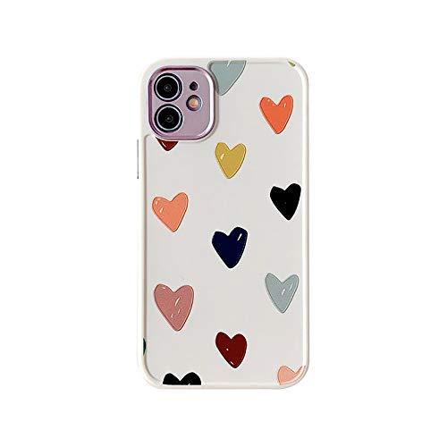 XWCG Funda Compatible con iPhone 12/12 Mini/12 Pro MAX TPU Silicona Fundas Carcasa con Moda Patrón Anti Rasguños Anti Arañazos [Protección de La Cámara] Back Cover,2,7/8Plus